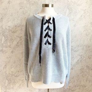 NEW Rails Olivia Cashmere Blend Gray Sweater L
